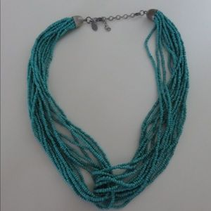 American Eagle Turquoise Beaded Twist Necklace